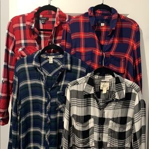 BUNDLE OF PLAID SHIRTS - From Various Brands